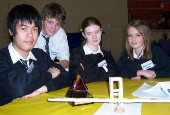 Innovation Prize - Roundhay School team with their model